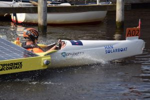 HAN Solarboat in de sprint